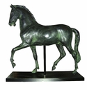 Intrada Italy Green Stone Horse Sculpture with Base