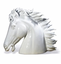 Intrada Italy Horse Head XL White Statue