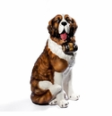 Intrada Italy Large Saint Bernard Dog Statue