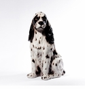 Intrada Italy Large White Cocker Spaniel Dog Statue