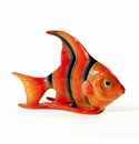 Intrada Italy Red & Blue Angel Fish Figurine