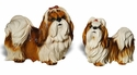 Intrada Italy Small Shih-tzu with Bow Dog Statue