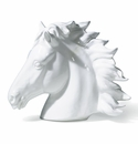 Intrada Italy White Horse Head Statue