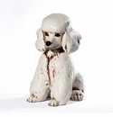 Intrada Italy White Patinato Poodle Dog Statue