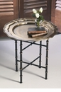 Iron Bamboo Stand for Round or Octagonal Tray (Tray Sold Separately) Home Decor