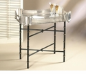 """Iron Bamboo Tray Stand (For 24"""" X 18 Tray) Home Decor"""
