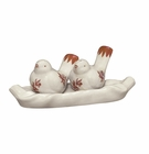 J. Willfred by Andrea by Sadek Red Bird Toile Salt & Pepper Set with Tray