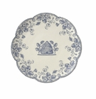 J Willfred Ceramics Bee Dessert Plates Jardin -Blue (Set of 4)