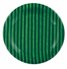 J. Willfred Ceramics Green Stripe Charger Plates (4)