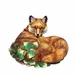 J. Willfred Ceramics Hand Painted Fox Figurine