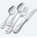 JA Henckels Children's Flatware Grimms Fairytales 4 Piece Set