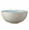 Jars Ceramics Plume Ocean Blue Serving Bowl 11X10X4.7""