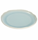 Jars Ceramics Plume Ocean Blue Serving Plate 12.5""