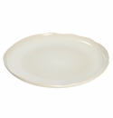 Jars Ceramics Plume White Pearl Serving Plate 12.5""