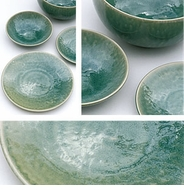 Jars Ceramics Tourron Jade Dinnerware