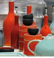 Jars Ceramics Tourron Orange Dinnerware