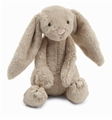 Jellycat Bashful Beige Bunny - Small Stuffed Animal