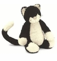 Jellycat Bashful Black and White Kitten - Medium Stuffed Animal