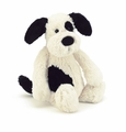 Jellycat Bashful Black & Cream Puppy - Huge Stuffed Animal
