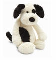 Jellycat Bashful Black & Cream Puppy - Medium Stuffed Animal