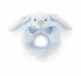 Jellycat Bashful Bunny Ring Rattle Blue
