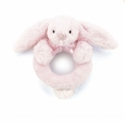 Jellycat Bashful Bunny Ring Rattle Pink