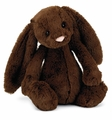 Jellycat Bashful Chocolate Bunny - Medium Stuffed Animal