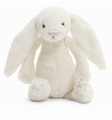 Jellycat Bashful Cream Bunny - Small Stuffed Animal