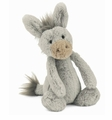 Jellycat Bashful Donkey - Small Stuffed Animal