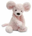 Jellycat Bashful Pink Mouse - Small Stuffed Animal