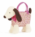 Jellycat Dainty Dog Cream Bag
