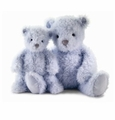 Jellycat Whisper Bear - Small Stuffed Animal (Blue)