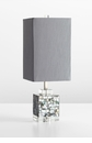 Johor Pearl Cube Table Lamp - Gray Shade by Cyan Design