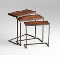Jules Wood and Iron Nesting Tables by Cyan Design