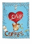 Julia Junkin I Love Coffee Kitchen Towel 18X25""