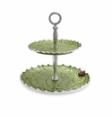 "Julia Knight Holly Sprig 11.5"" Two-Tiered Server Mojito"