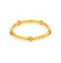 Julie Vos Savannah Bangle Gold Medium