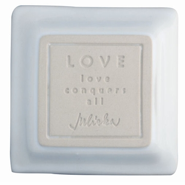 Juliska Cornerstones Love Mini Tray - Whitewash