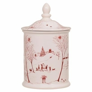Juliska Country Estate Cookie Jar - Holiday Traditions Ruby