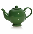 Juniper Green 44 Ounce Hat Shaped Teapot by Hues and Brews