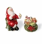 Kaldun & Bogle Christmas Gifts Santa & Gift Bag Salt & Pepper