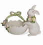 Kaldun & Bogle French Fields Tulip Bunny Egg Shell Basket (White)