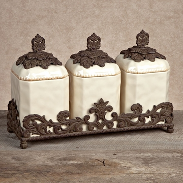 Gg Collection Canister Set >> Kitchen Canisters & Canister Sets from GG Collection