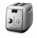 KitchenAid 2-Slice Toaster-Button Activated-Contour Silver
