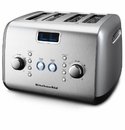 KitchenAid 4-Slice Toaster-Button Activated-Contour Silver