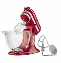 KitchenAid Artisan Stand Mixer 5qt. Glass - Candy Apple Red