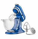 KitchenAid Artisan Stand Mixer 5qt. Glass - Electric Blue