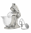 KitchenAid Artisan Stand Mixer 5qt. Glass - Sugar Pearl Silver