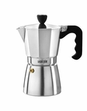 La Cafetiere 6 Cup Stove Top Espresso Maker Polished