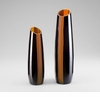 Large Ader Modern Amber Glass Vase by Cyan Design (Each Vase is Sold Separately)